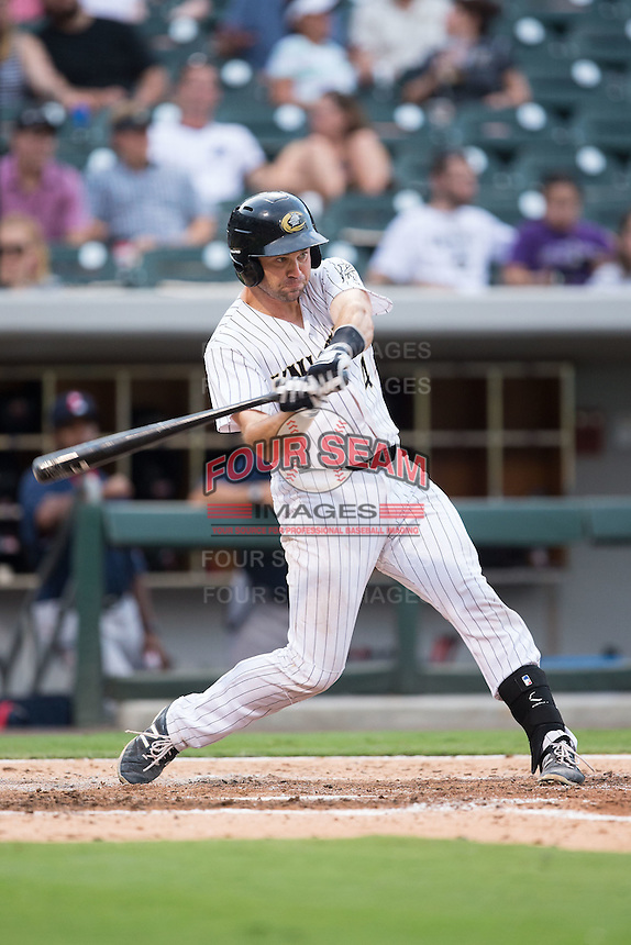 Vinny Rottino (4) of the Charlotte Knights at bat against the Pawtucket Red Sox at BB&T BallPark on July 6, 2016 in Charlotte, North Carolina.  The Knights defeated the Red Sox 8-6.  (Brian Westerholt/Four Seam Images)