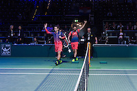 ABN AMRO World Tennis Tournament, Rotterdam, The Netherlands, 19 Februari, 2017, Matwe Middelkoop (NED), Wesley Koolhof (NED)<br /> Photo: Henk Koster