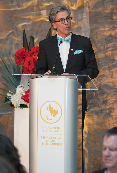 Ottawa, ON &ndash; Nov 27 2015 &ndash; Ga&eacute;tan Tardiff at the Canadian Paralympic Hall of Fame<br /> (Photo: Matthew Murnaghan/Canadian Paralympic Committee)