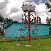 The water tower of the Cholga health center in rural Ethiopia, on August 24, 2010.