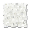 Mini Versailles shown in polished Calacatta Radiance is part of New Ravenna's Studio Line of ready to ship mosaics.