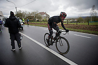 Martin Mortensen (DNK/Cult) racing through the feedzone in Ronse<br /> <br /> 70th Dwars Door Vlaanderen 2015