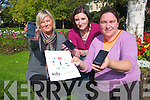 Nuala Carey (Community Youth Worker), Ciara O'Sullivan (KDYS Youth Information Assistant) and Nora Butler (KDYS Youth Information Co-ordinator) who are launched their new downloadable app Youth Survival Guide for android phones.