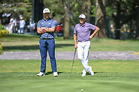 Jon Rahm (ESP) and Rickie Fowler (USA) wait to putt on 6 during round 1 of the World Golf Championships, Mexico, Club De Golf Chapultepec, Mexico City, Mexico. 2/21/2019.<br /> Picture: Golffile | Ken Murray<br /> <br /> <br /> All photo usage must carry mandatory copyright credit (© Golffile | Ken Murray)