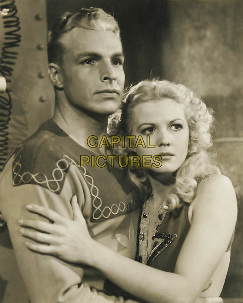 BUSTER CRABBE With Jean Rogers.in Flash Gordon.*Filmstill - Editorial Use Only*.CAP/PLF.Supplied by Capital Pictures.