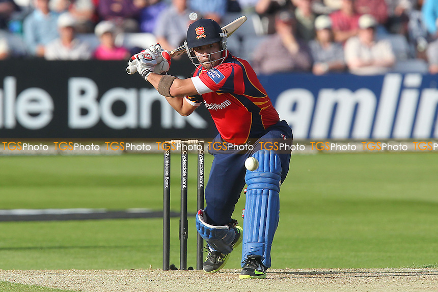 Owais Shah hits four runs for Essex - Essex Eagles vs Surrey Lions - Yorkshire Bank YB40 Cricket at the Essex County Ground, Chelmsford - 03/06/13 - MANDATORY CREDIT: Gavin Ellis/TGSPHOTO - Self billing applies where appropriate - 0845 094 6026 - contact@tgsphoto.co.uk - NO UNPAID USE