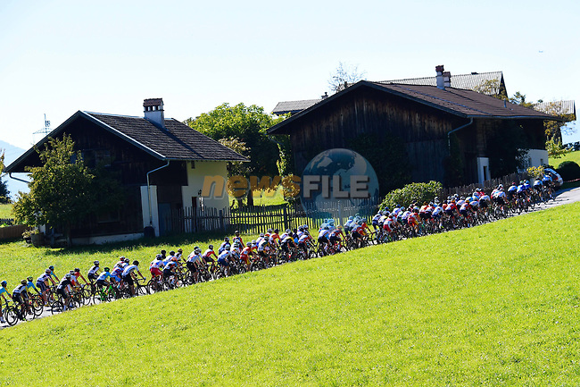 Action from the Men U23 Road Race of the 2018 UCI Road World Championships running 179.5km from Wattens to Innsbruck, Innsbruck-Tirol, Austria 2018. 28th September 2018.<br /> Picture: Innsbruck-Tirol 2018/Dario Belingheri/BettiniPhoto | Cyclefile<br /> <br /> <br /> All photos usage must carry mandatory copyright credit (© Cyclefile | Innsbruck-Tirol 2018/Dario Belingheri/BettiniPhoto)
