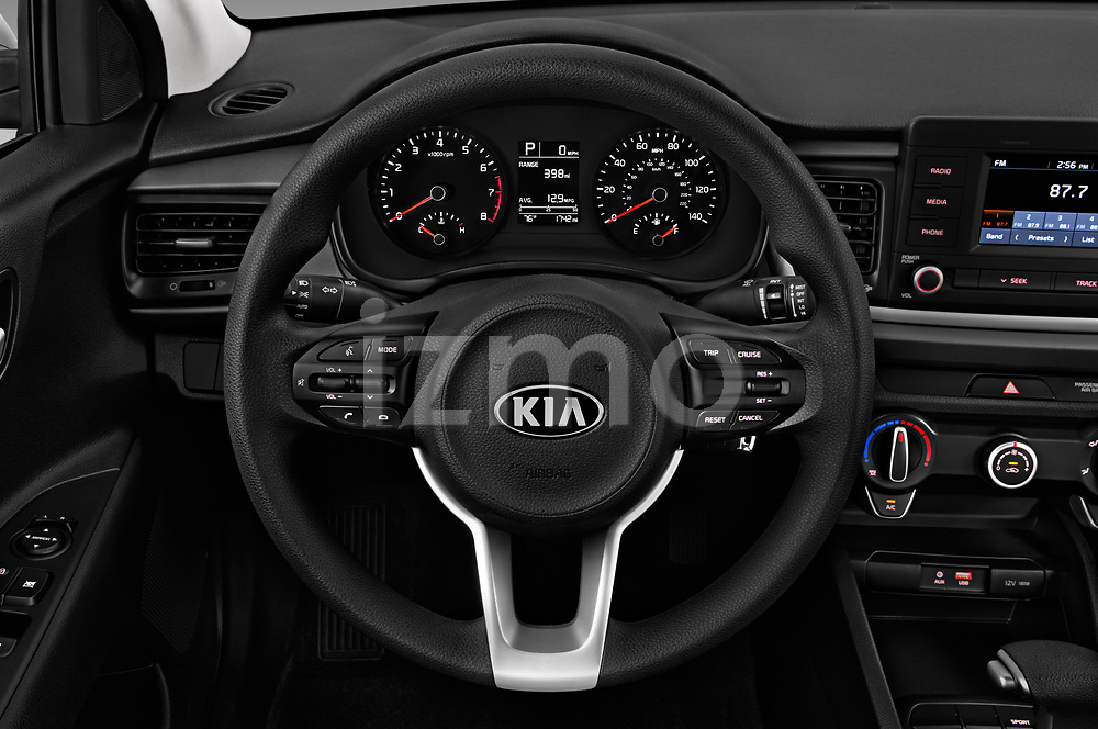 Car pictures of steering wheel view of a 2018 KIA Rio S 4 Door Sedan