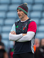 Harlequin's Head Coach Paul Gustard<br /> <br /> Photographer Bob Bradford/CameraSport<br /> <br /> Premiership Rugby Cup Round 2 Pool 1 - Harlequins v Newcastle Falcons - Sunday 4th November 2018 - Twickenham Stoop - London<br /> <br /> World Copyright &copy; 2018 CameraSport. All rights reserved. 43 Linden Ave. Countesthorpe. Leicester. England. LE8 5PG - Tel: +44 (0) 116 277 4147 - admin@camerasport.com - www.camerasport.com