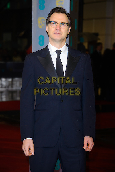 David Morrissey.EE British Academy Film Awards at The Royal Opera House, London, England 10th February 2013.BAFTA BAFTAS arrivals half length black white tie  shirt suit jacket glasses .CAP/CJ.©Chris Joseph/Capital Pictures