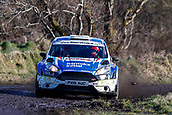 10th February 2019, Galway, Ireland; Galway International Rally; Ex World Rally Championship stars Craig Breen and Paul Nagle lead after 3 stages, but only by 0.3 seconds from Garry Jennings and Rory Kennedy