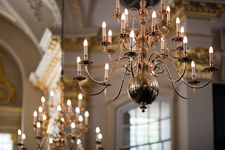 Lamps in Saint Martin in the Fields church, London, England, United Kingdom