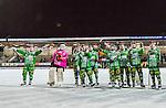 Stockholm 2015-01-16 Bandy Elitserien Hammarby IF - IFK Kung&auml;lv :  <br /> Hammarbys spelare firar segern framf&ouml;r Hammarbys supportrar efter matchen mellan Hammarby IF och IFK Kung&auml;lv <br /> (Foto: Kenta J&ouml;nsson) Nyckelord:  Elitserien Bandy Zinkensdamms IP Zinkensdamm Zinken Hammarby Bajen HIF IFK Kung&auml;lv jubel gl&auml;dje lycka glad happy