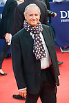 """Patrick Braoudé poses on the red carpet before the screening of the film """"The Man from U.N.C.L.E."""" during the 41st Deauville American Film Festival on September 11, 2015 in Deauville, France"""