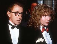 Woody Allen Mia Farrow 1983<br /> Photo By John Barrett/PHOTOlink.net / MediaPunch