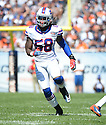 Buffalo Bills Randell Johnson (58) during a game against the Chicago Bears on September 7, 2014 at Soldier Field in Chicago, IL. The Bills beat the Bears 23-20.