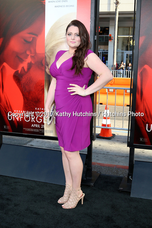 """LOS ANGELES - APR 18:  Lauren Ash at the """"Unforgettable"""" Premiere at TCL Chinese Theater IMAX on April 18, 2017 in Los Angeles, CA"""