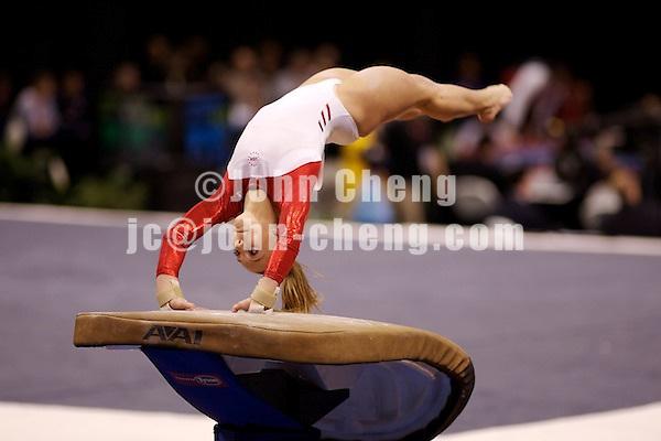 03/02/07 - Photo By John Cheng - Tyson American Cup Qualifying Round - Samantha Peszek of US Team.