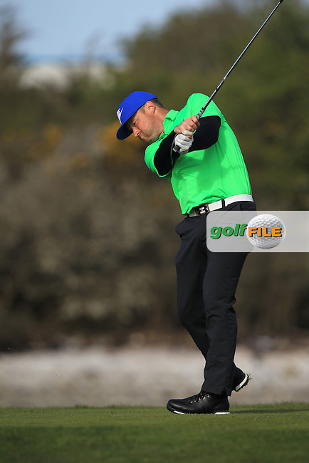 T Hackett (The Royal Dublin) on the 4th tee during Round 1 of the Munster Stroke Play Championship at Cork Golf Club on Saturday 30th April 2016.<br /> Picture:  Thos Caffrey / www.golffile.ie
