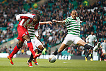Kelvin Wilson lunges in and manages to block William Gros' goalbound shot