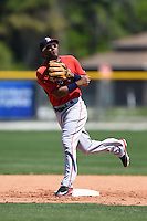 Boston Red Sox Wendell Rijo (11) during practice before a minor league spring training game against the Baltimore Orioles on March 20, 2015 at Buck O'Neil Complex in Sarasota, Florida.  (Mike Janes/Four Seam Images)