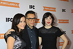 Debbie DeMontreux - Fred Armisen - Carrie Brownstein - IFC comedy series Portlandia Season 3 New York Premiere Event on November 10, 2012 at American Museum of Natural History, New York City, New York. It is created, written by and stars Fred Armisen and Carrie Brownstein with executive producer Lorne Michaels. General Hospital Amber Tamblyn is in the production and poses with husband David Cross. (Photo by Sue Coflin/Max Photos)