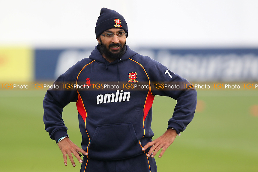 Monty Panesar of Essex during the warm up - Essex CCC vs Kent CCC - Pre-Season Friendly Cricket Match at the Essex County Ground, Chelmsford - 03/04/14 - MANDATORY CREDIT: Gavin Ellis/TGSPHOTO - Self billing applies where appropriate - 0845 094 6026 - contact@tgsphoto.co.uk - NO UNPAID USE
