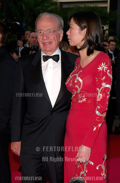 Media tycoon RUPERT MURDOCH & wife WENDY DENG at the premiere of Moulin Rouge which opened the 54th Cannes Film Festival..09MAY2001  © Paul Smith/Featureflash