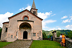 The 16th century church of San Giacomo Vecchia in Livo, a town in the mountains of Lake Como, Italy (above Gravedona)