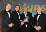 At the Bord G&aacute;is Energy Munster GAA Sports Star of the Year Awards in The Malton Hotel, Killarney on Saturday night were front from left, Dave Kirwan, Managing Director, Bord Gais Energy, Richie McCarthy, Limerick, senior hurler of the year, Jerry O&rsquo;Sullivan, Munster GAA Chairman and Robert Frost, Chairman, Munster GAA.<br /> Picture by Don MacMonagle<br /> <br /> PR photo from Munster Council