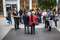 Die SPD-Mitglieder Gesine Schwan, Politikwissenschaftlerin (rechts im Bild) und Ralf Stegner, Vorsitzender der SPD-Fraktion im Schleswig-Holsteinischen Landtag (links im Bild) erklaerten am Freitag den 16. August 2019 in Berlin ihre gemeinsame Kandidatur zum Parteivorsitz als Doppelspitze.<br /> 16.8.2019, Berlin<br /> Copyright: Christian-Ditsch.de<br /> [Inhaltsveraendernde Manipulation des Fotos nur nach ausdruecklicher Genehmigung des Fotografen. Vereinbarungen ueber Abtretung von Persoenlichkeitsrechten/Model Release der abgebildeten Person/Personen liegen nicht vor. NO MODEL RELEASE! Nur fuer Redaktionelle Zwecke. Don't publish without copyright Christian-Ditsch.de, Veroeffentlichung nur mit Fotografennennung, sowie gegen Honorar, MwSt. und Beleg. Konto: I N G - D i B a, IBAN DE58500105175400192269, BIC INGDDEFFXXX, Kontakt: post@christian-ditsch.de<br /> Bei der Bearbeitung der Dateiinformationen darf die Urheberkennzeichnung in den EXIF- und  IPTC-Daten nicht entfernt werden, diese sind in digitalen Medien nach §95c UrhG rechtlich geschuetzt. Der Urhebervermerk wird gemaess §13 UrhG verlangt.]