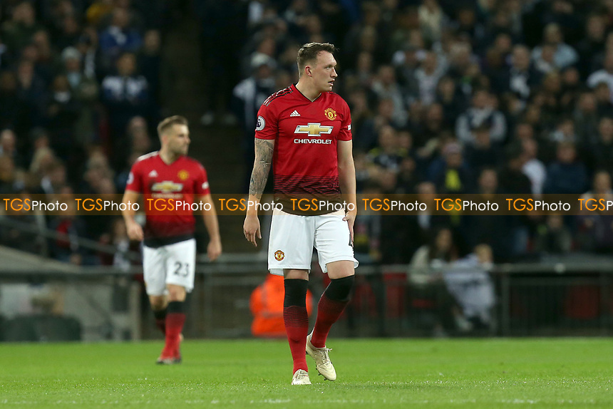 Phil Jones of Manchester United during Tottenham Hotspur vs Manchester United, Premier League Football at Wembley Stadium on 13th January 2019