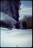 Train coming out of Chama with Rotary<br /> D&amp;RGW  Chama, NM