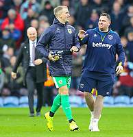 Burnley's Joe Hart prepares to take his place on the bench <br /> <br /> Photographer Alex Dodd/CameraSport<br /> <br /> The Premier League - Burnley v West Ham United - Sunday 30th December 2018 - Turf Moor - Burnley<br /> <br /> World Copyright © 2018 CameraSport. All rights reserved. 43 Linden Ave. Countesthorpe. Leicester. England. LE8 5PG - Tel: +44 (0) 116 277 4147 - admin@camerasport.com - www.camerasport.com