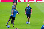 Club Brujas Siebe Schrijvers during training session the day before Group Stage UEFA Champions League match between Atletico de Madrid and Club Brujas at Wanda Metropolitano Stadium in Madrid, Spain. October, 2018. (COOLMEDIA/BorjaB.Hojas)