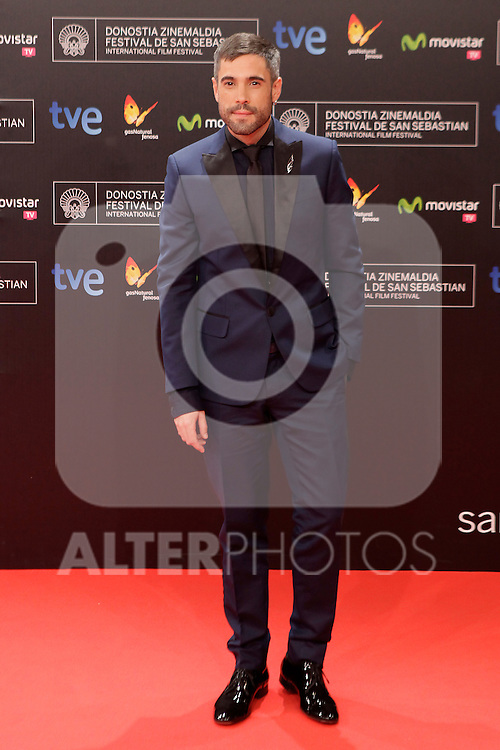 Actor Unax Ugalde posses in the photocall before the closing ceremony during the 61st San Sebastian Film Festival in the Northern Spanish Basque city of San Sebastian on September 27, 2013. (ALTERPHOTOS/Victor Blanco)