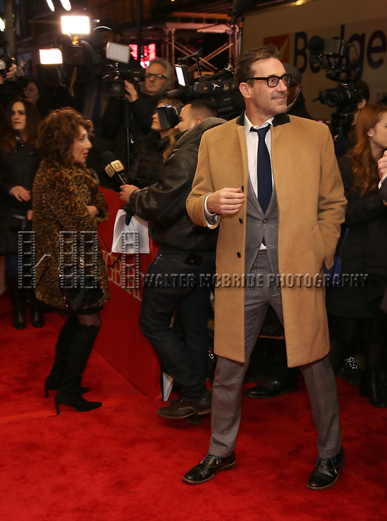"Andrea Martin and Jon Hamm attends the Broadway Opening Night Performance of ""To Kill A Mockingbird"" on December 13, 2018 at The Shubert Theatre in New York City."