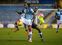 Marcus Bean of Wycombe Wanderers during the Checkatrade Trophy round two Southern Section match between Millwall and Wycombe Wanderers at The Den, London, England on the 7th December 2016. Photo by Liam McAvoy.