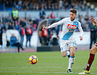 during the  italian serie a soccer match,between Dries Mertens SSC Napoli and Torino       at  the San  Paolo   stadium in Naples  Italy , December 18, 2016