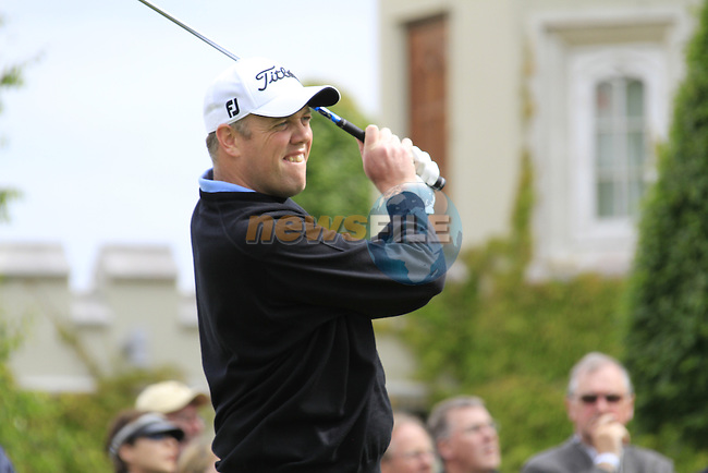 David Mortimer (IRL) tees off on the 1st tee to start his round on Day 2 of the BMW PGA Championship Championship at, Wentworth Club, Surrey, England, 27th May 2011. (Photo Eoin Clarke/Golffile 2011)
