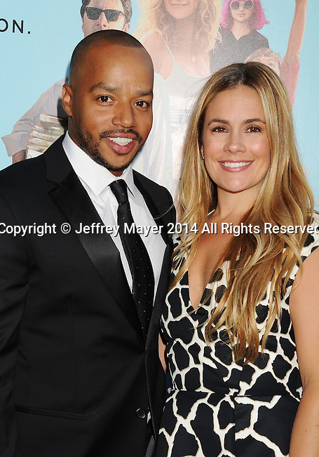 LOS ANGELES, CA- JUNE 23: Actor Donald Faison (L) and actress Cacee Cobb attend the 'Wish I Was Here' Los Angeles premiere on June 23, 2014 at the DGA Theater in Los Angeles, California.
