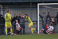Jordan Williams of AFC Fylde celebrates scoring the second goal during Kingstonian vs AFC Fylde, Emirates FA Cup Football at King George's Field on 30th November 2019