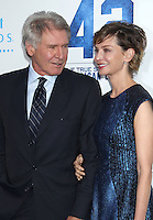 "Harrison Ford & Calista Flockhart attend the premiere of  "" Pictures 42 """