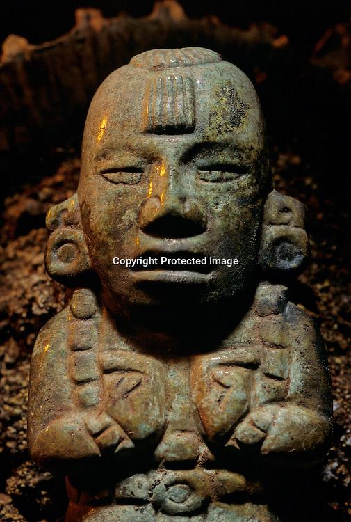 KLG, Royal, Maya,TombII,Copan;  Honduras; archaeology; Classic period; tomb,Ante excavation, Robert Sharer, Jade, artifact, excavation
