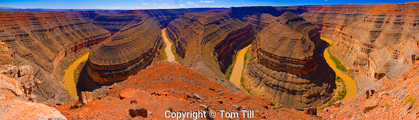 San Juan Goosenecks  San Juan Proposed Wilderness, Utah  San Juan Goosenecks State Park  Torturous curves of San Juan River