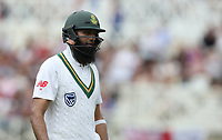 South Africa's Hashim Amla walks back to the pavilion after his dismissal<br /> <br /> Photographer Stephen White/CameraSport<br /> <br /> Investec Test Series 2017 - Second Test - England v South Africa - Day 3 - Sunday 16th July 2017 - Trent Bridge - Nottingham<br /> <br /> World Copyright &copy; 2017 CameraSport. All rights reserved. 43 Linden Ave. Countesthorpe. Leicester. England. LE8 5PG - Tel: +44 (0) 116 277 4147 - admin@camerasport.com - www.camerasport.com