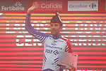 Thibaut Pinot (FRA) Groupama-FDJ wins Stage 15 of the La Vuelta 2018, running 178.2km from Ribera de Arriba to Lagos de Covadonga, Spain. 9th September 2018.               Picture: Unipublic/Photogomezsport | Cyclefile<br /> <br /> <br /> All photos usage must carry mandatory copyright credit (&copy; Cyclefile | Unipublic/Photogomezsport)