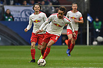 16.03.2019, VELTINS-Arena, Gelsenkirchen, GER, DFL, 1. BL, FC Schalke 04 vs RB Leipzig, DFL regulations prohibit any use of photographs as image sequences and/or quasi-video<br /> <br /> im Bild Yussuf Poulsen (#9, RB Leipzig) Aktion . Einzelbild . Freisteller . mit Ball <br /> <br /> Foto © nph/Mauelshagen