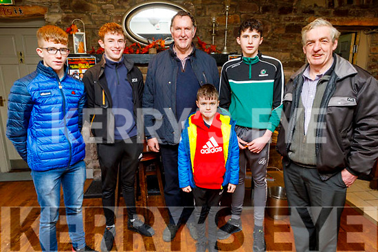 Shane Gaynor, Tadgh and John Kerins, Thomas O'Connor, Denis Tagney and Daithi O'Connor from Tralee and Miltown at the James Ashe Memorial Tractor Run in Boolteens on Sunday.