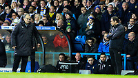 Leeds United manager Marcelo Bielsa and Derby County manager Frank Lampard watch on during the second half<br /> <br /> Photographer Alex Dodd/CameraSport<br /> <br /> The EFL Sky Bet Championship -  Leeds United v Derby County - Friday 11th January 2019 - Elland Road - Leeds<br /> <br /> World Copyright &copy; 2019 CameraSport. All rights reserved. 43 Linden Ave. Countesthorpe. Leicester. England. LE8 5PG - Tel: +44 (0) 116 277 4147 - admin@camerasport.com - www.camerasport.com